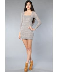 Free People | Gray The Good Girl Gone Bad Bodycon Dress | Lyst