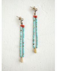 Free People - Blue Vintage Heishi Bead Earrings - Lyst
