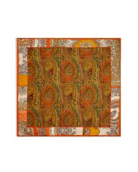 Etro | Mandarin Multicolor Pasiley Print Pocket Square for Men | Lyst
