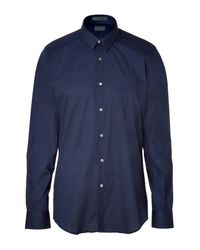 CoSTUME NATIONAL | Blue Navy Slim Fit City Shirt for Men | Lyst