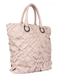 Diverso Italiano | Pink Handwoven Leather Linda Tote | Lyst