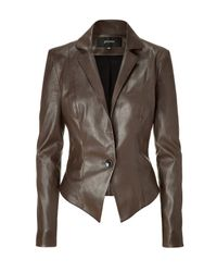 Jitrois | Brown Stretch Leather Jacket | Lyst