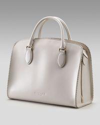 Rochas - White Scalloped Leather Handbag - Lyst