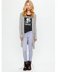 Free People | Purple Ankle Crop Skinny Jean | Lyst