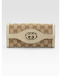 Gucci | Natural Sukey Fold Continental Gg Wallet | Lyst