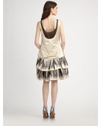 Marc Jacobs | Natural Silk Satin Dress | Lyst
