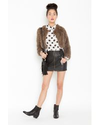 Nasty Gal | Brown Soho Shag Jacket | Lyst