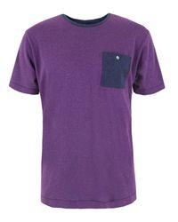 Paul Smith | Purple Damson Pocket T-shirt for Men | Lyst