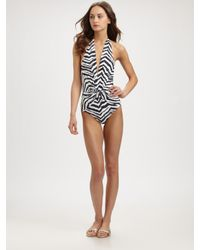 Emilio Pucci | Multicolor One-piece Zebra-print Swimsuit | Lyst