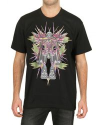 Givenchy - Black Birds Of Paradise Jersey Oversize T-shir for Men - Lyst