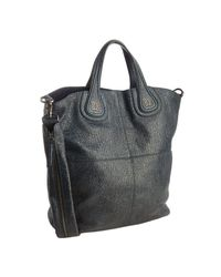 Givenchy | Blue Navy Grained Patent Calfskin Nightingale Tote | Lyst