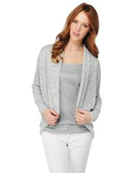 Splendid | Metallic Sparkle Loose Knit Cardigan | Lyst