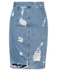 Acne | Blue Fine Trash Denim Skirt | Lyst