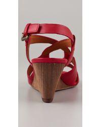 Ash | Red Kadiah Wedge Sandals | Lyst