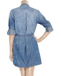 Current/Elliott Blue Sarah Shirt Dress - Colony