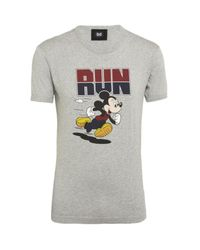 Dolce & Gabbana | Gray Mickey Mouse T-shirt for Men | Lyst