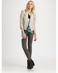 Helmut Lang | Natural Waxed Shine Leather Blazer | Lyst