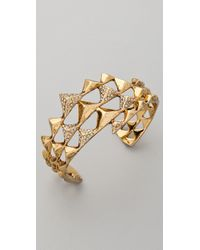 House of Harlow 1960 - Metallic Pyramid Pave Wrap Cuff - Lyst