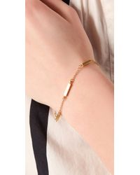 Jennifer Zeuner | Metallic Mini Bar Bracelet | Lyst