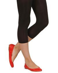 Jil Sander | Red Leather Ballerina Flats | Lyst