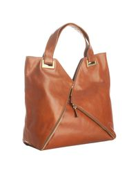 Kooba | Brown Saddle Leather Ryder Zip Pocket Large Tote | Lyst