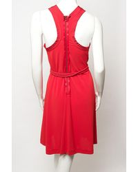 Lanvin - Red Tank Crepe Dress in A Blend Of Acetate - Lyst