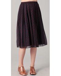 Madewell - Blue Judy Polka Dot Long Skirt - Lyst