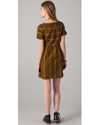Madewell - Brown Striped Avalon Dress - Lyst