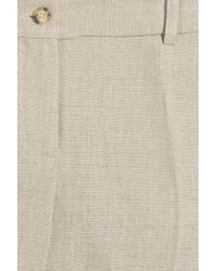 Michael Kors - Natural Linen Mini Shorts - Lyst