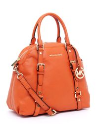 Michael Kors | Orange Bedford Large Bowling Satchel | Lyst