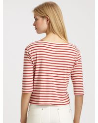 M.i.h Jeans - Red Mih Striped Breton Tee - Lyst