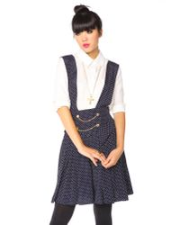 Nasty Gal - Blue Chained Dot Overalls - Lyst