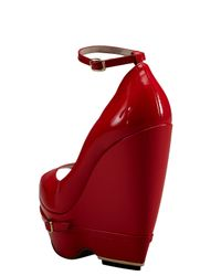 Nicholas Kirkwood | Red Patent Leather Wedge Pumps | Lyst