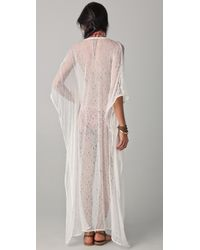 OndadeMar | White Riviera Mesh Cover Up Dress | Lyst