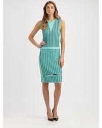 Pringle of Scotland - Green Intarsia Dress - Lyst