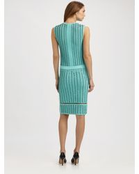 Pringle of Scotland | Green Intarsia Dress | Lyst