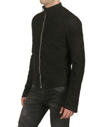 Rick Owens | Black Parchment Effect Nappa Leather Jacket for Men | Lyst