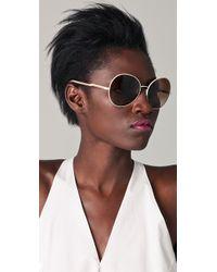 Stella McCartney | Natural Round Oversized Sunglasses | Lyst