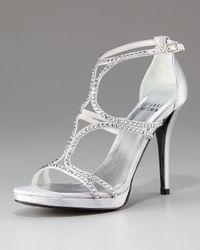 Stuart Weitzman | Metallic Pave Crystal Sandal | Lyst