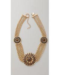 Tuleste | Metallic Circle Pendant & Chain Necklace | Lyst