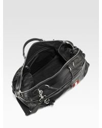 Bally | Black Perforated Leather Travel Duffle for Men | Lyst