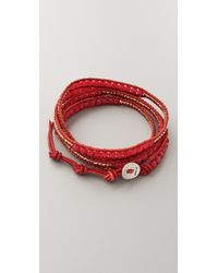 Chan Luu - Red Beaded Wrap Bracelet - Lyst