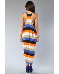 Cheap Monday The Melinda Dress in Blue And Orange Stripe