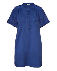 Closed | Blue Indigo Shirt Dress | Lyst