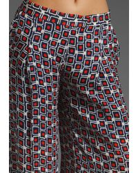 Elizabeth and James | Multicolor Mod Evelyn Trouser in Red and Navy | Lyst