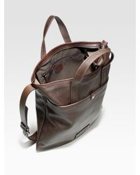 Ferragamo | Brown Leather Tote Bag for Men | Lyst