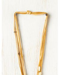 Free People - Natural Bolo Necklace - Lyst