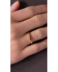 Jennifer Zeuner Metallic Thin Band Ring