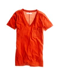 Madewell | Red V-neck Pocket Tee | Lyst