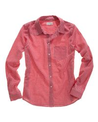 Madewell | Red Shrunken Shadyday Gingham Boyshirt | Lyst